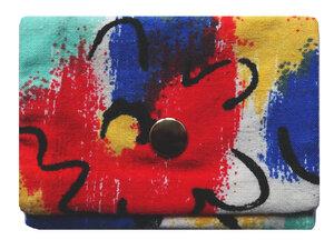 Leesha WILDe Upcycling Mini Portemonnaie Farbklecks - Leesha