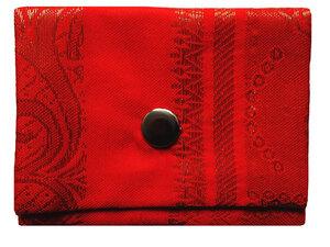 Leesha WILDe Upcycling Mini Portemonnaie Indisch Orange - Leesha