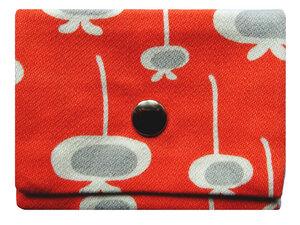 Leesha WILDe Upcycling Mini Portemonnaie Retro Orange - Leesha