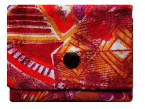 Leesha WILDe Upcycling Mini Portemonnaie Rot Abstrakt - Leesha