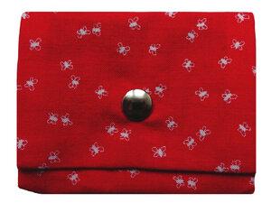 Leesha WILDe Upcycling Mini Portemonnaie Rote Fliegen - Leesha