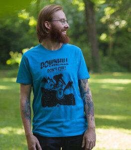 Downhill don't chill - Fair Wear Männer T-Shirt - Azur - päfjes