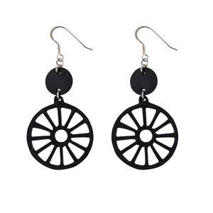 Water Wheel handgefertigte Ohrringe aus recyceltem Reifenschlauch - SAPU