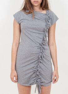 Knoten Kleid grau meliert - Lena Schokolade