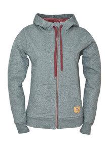woody zip hoody ladies grey - bleed