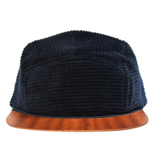 Cord Cap mit edlem Holzschild - Made in Germany - Sehr bequem - Lou-i