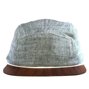 Leinen Cap mit edlem Holzschild - Made in Germany - Sehr bequem - Lou-i