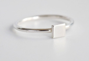 Square Midi Ring - Wild Fawn Jewellery