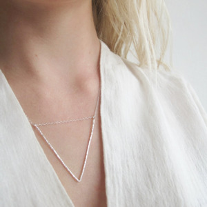 Hammered V Necklace - Wild Fawn Jewellery