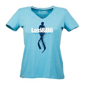 Freediving Damen V-Neck ocean blue - Lexi&Bö