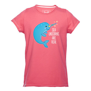 Sea Unicorns Are Real Mädchen T-Shirt pink - Lexi&Bö