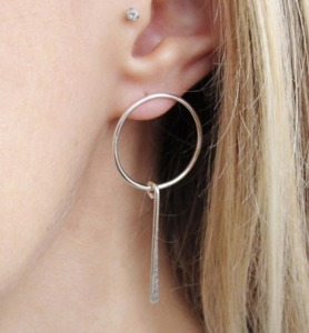 Circle Bar Hoops - Wild Fawn Jewellery