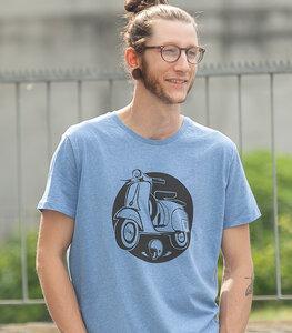 Retro Schaltroller - Männer T-Shirt - Heather Blue - päfjes