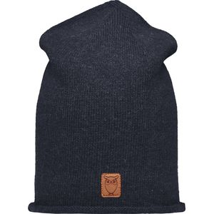 High beanie organic wool - Total Eclipse - KnowledgeCotton Apparel