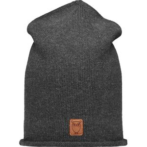Mütze - High beanie organic wool - Dark Grey Melange - KnowledgeCotton Apparel