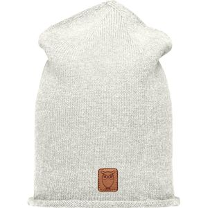 High beanie organic wool - Nature Melange - KnowledgeCotton Apparel