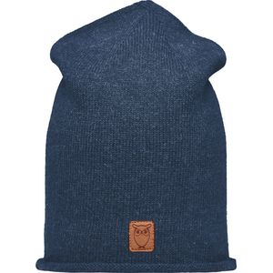 Mütze - High beanie organic wool - Insigna Blue - KnowledgeCotton Apparel