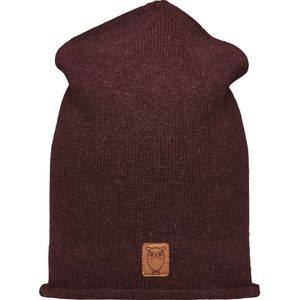 High beanie organic wool - Decadent Chokolade - KnowledgeCotton Apparel