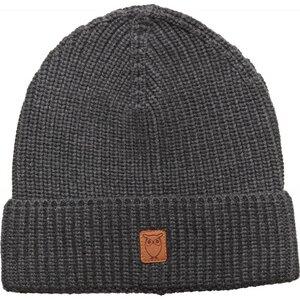 Ribbing hat - Dark Grey Melange - KnowledgeCotton Apparel
