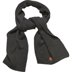 Ribbing scarf - Dark Grey Melange - KnowledgeCotton Apparel