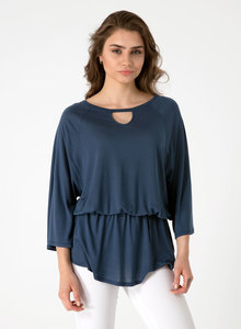 Bluse aus Tencel® mit 3/4-Arm - ORGANICATION