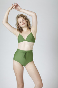 BIKINI BOTTOM No. 4 green - MARGARET AND HERMIONE Swimwear Vienna