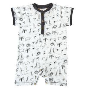 Baby Beachbody - Spieler weiß bedruckt Bio People Wear Organic - People Wear Organic