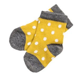 Baby Bio Strumpf gelb gepunktet People Wear Organic - People Wear Organic