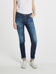 Slimfit Jeans Satu mit durchgeknöpfter Schlitzleiste - Feuervogl