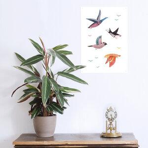 Poster Wildvögel - noull