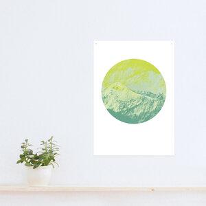 Poster Berg grün - noull