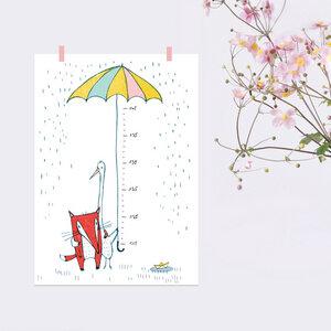 Poster Messlatte Regenschirm - noull