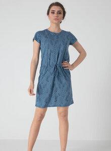 Allover Print Kleid aus Tencel® und Bio-Baumwolle mit seitlichen Eingrifftaschen - ORGANICATION