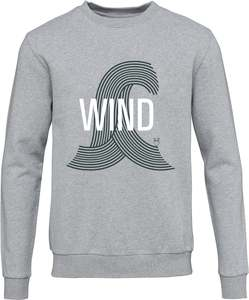 Sweat Shirt mit Druck - Grey Melange - KnowledgeCotton Apparel