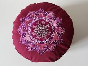 Meditationskissen rund mit OM Mandala - BAGHI
