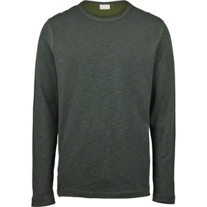 Sweatshirt - Doublelayer striped sweat - Black Forrest - KnowledgeCotton Apparel