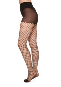 Netzstrumpfhose - Ruth Fishnet - Schwarz - Swedish Stockings