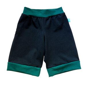 leichte Jersey-Shorts marine/smaragd - bingabonga