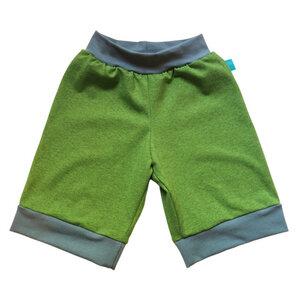 leichte Jersey-Shorts lime-melange/blaugrau hell - bingabonga