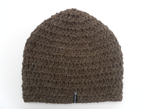 Häkelbeanie Brownie & Naturgrau - mörtel.mütze