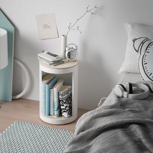 BücherHocker einfarbig   rund:Stil - rund:Stil