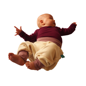 Baby Gemütlichkeitshose ecru/altrosa - bingabonga