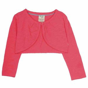 Pointelle Cardigan Washed Red - Frugi