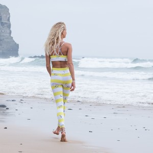 'Yellow Flamingo' Leggings - Flying Love Birds