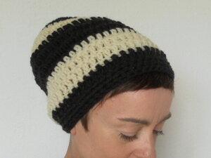 Beanie BLACK & WHITE - mörtel.mütze