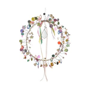 Fensterschmuck Perlenkreis mit Kristall - Just Be