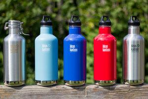 Klean Kanteen Classic Trinkflasche isoliert 946ml mit Loop Cap (neue Farben) - Klean Kanteen