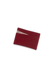 Kreditkartenhalter aus Leder - Rot / Kupfer - ELEKTROPULLI