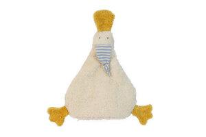 Wärmekissen 'Ente', Kirschkern ,Farbe: weiss,Plüsch - PAT & PATTY