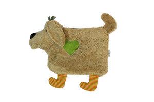 "Wärmekissen ""Hund"",Farbe: hellbraun ,  Kirschkern,100 % Baumwolle . - PAT & PATTY"